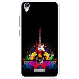 Snooky Printed Rainbow Music Mobile Back Cover For Lava Iris X9 - Black