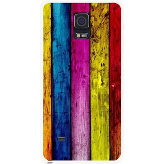 Snooky Printed Stylo Stripe Mobile Back Cover For Samsung Galaxy Note 4 - Multi