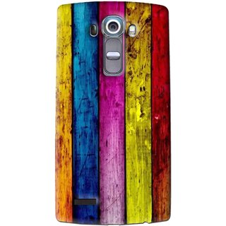Snooky Printed Stylo Stripe Mobile Back Cover For Lg G4 - Multi