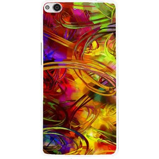 Snooky Printed Vibgyor Mobile Back Cover For Gionee Elife E6 - Multi