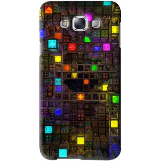 Snooky Printed Gaming Chamber Mobile Back Cover For Samsung Galaxy E5 - Multi