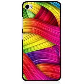 Snooky Printed Color Waves Mobile Back Cover For Lenovo s90 - Multi