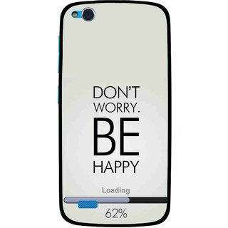 check out 3c3dd 94566 Snooky Printed Be Happy Mobile Back Cover For Gionee Elife E3 - Grey