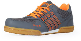 Feroc Shot Non Marking Grey Badminton Shoes