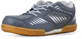 Feroc Non Marking Grey White Badminton Shoes