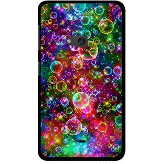 Snooky Printed Funky Bubbles Mobile Back Cover For Nokia Lumia 625 - Multi