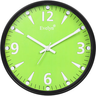 Evelyn Round Wall Clock With Glass For Home / Bedroom / Living Room / Kitchen Evc-39