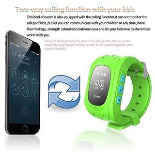 IBS New Smart Phone Watch Children KKid Q50 GSM GPRS GPS Locator Traccker Anti-Lost Smartwatch LIGHT GREEN