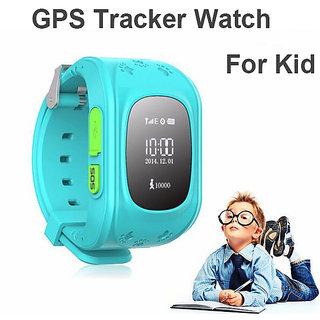 IBS NNew Smart Phone Watch Children Kid Q50 GSM GPRS GPS Locator Traccker AAnti-Lost Smartwatch LIGHT BLUE