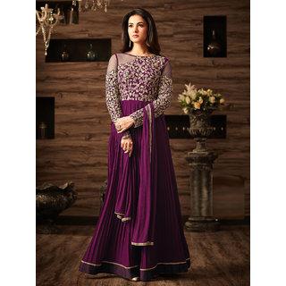Ethnic Empire Designer Faux Georgette Festive Wear Anarkali Salwar Kameez
