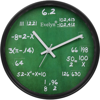 Evelyn Round Wall Clock With Glass For Home / Bedroom / Living Room / Kitchen Evc-55