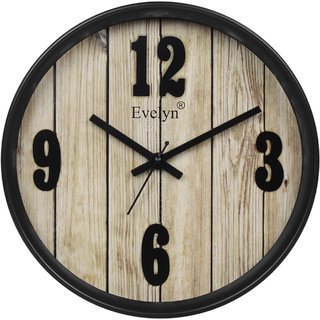 Evelyn Round Wall Clock With Glass For Home / Bedroom / Living Room / Kitchen Evc-56