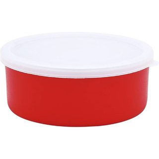 Micro Stainless Steel Bowl Set (Orange, Pack of 6)