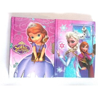 Princess Diary with Lock Case for Girls Gifts options (Combo) Color As per Availability,