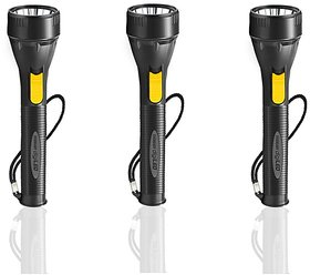 Pack of 3  Eveready Digiled DL45 Trendy Plastic Torch (With Free Replaceable Batteries)