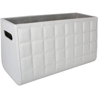 Multipurpose Leather Basket / Magazine Holder