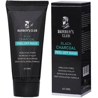 Barber's Club Black Charcoal Peel of Mask - Ultimate Blackhead Remover - 60 gms