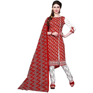Women Fine Pure Cotton Dress Material / Churidar Suit  Regular wear  Free Delivery (Unstitched)