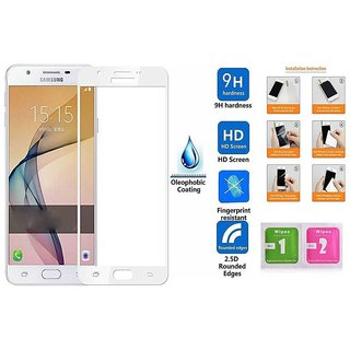 Samsung Galaxy J7 Max Premium Full Front Body Covered Tempered Glass White  Screen Protector Screen Guard Hd Quality