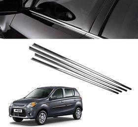 Trigcars Maruti Suzuki Alto 800 Car Window Lower Garnish chrome