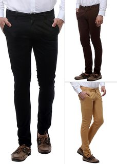 Balino London Fashion Combo of Cotton Trouser For Men pack of 3