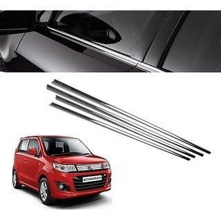Trigcars Maruti Suzuki Wagon R Stingray Car Window Lower Garnish chrome