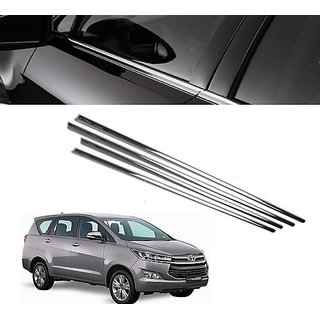 Trigcars Toyota Innova Crysta Car Window Lower Garnish chrome