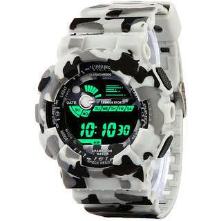 METTLE Multi Function LED Army Style Digital Sports Watch For Men's Boys (MT-DWW-1702 A ) -White