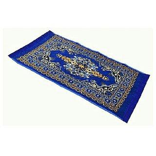 Buy Decor Factory ,Velvet Touch Abstract Carpet, Pooja Assan -2X4 Feet, Blue Online @ ₹419 from ShopClues