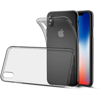 iPhone X Transparent Gray Soft Silicon Ultra Thin Back Case Cover