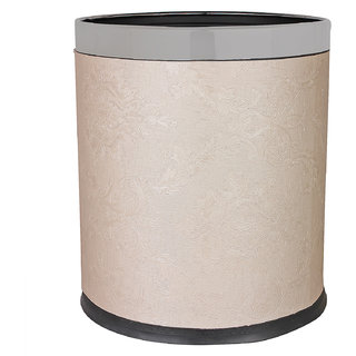 Pink Dustbin with self design leather