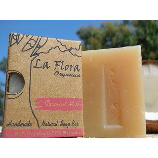 La flora Organics Coconut Milk Handmade Soap Bar 100 gms