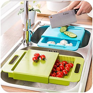 Urban Living Chopping Cutting Board With Drawer Style Multi-function kitchenware