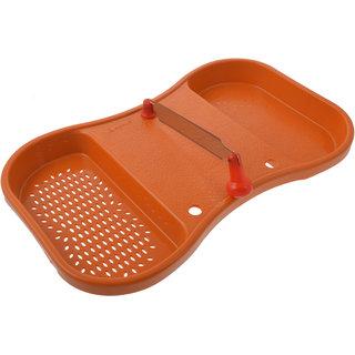 ANKUR Plastic Cut N Wash Board 1 Piece Brown