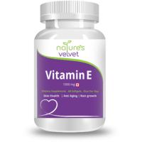 Natures Velvet Lifecare Vitamin E 1000 Mg, 60 Softgels