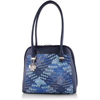 Butterflies Women  Navy Blue  Handbag BNS 0584NBL