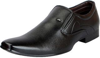 FAUSTO Black Men's Formal Slip-ons