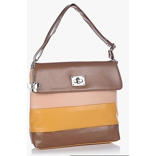 Butterflies Brown Shoulder Bag