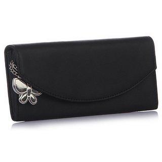 Butterflies Multicolor Plain Women Wallet
