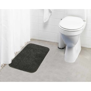 Lushomes Grey Thick and fluffy 1800 GSM bathmat with High Pile Microfiber (15 x 24  Single Pc)