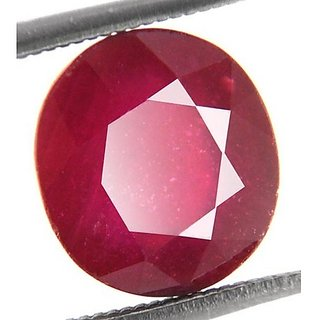 7.25 Ratti 100 Natural  Ruby stone Original  Manik Gemstone By Lab Certified