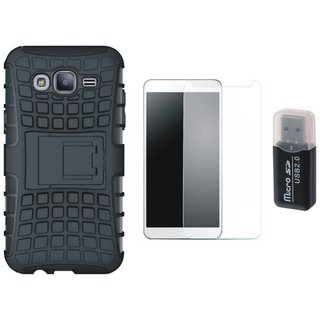 Redmi Note 4 Shockproof Tough Armour Defender Case with Memory Card Reader, Tempered Glass