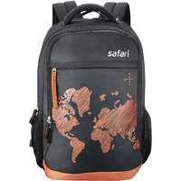 Safari WorldMap Black Laptop Backpack