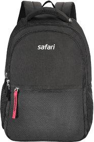Safari Split Black Casual Backpack