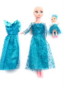 Frozen  Elsa Doll with Small Doll  MirrorComb 8 Pair of Shoes and Other Acessories