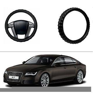 AutoStark Premium Finger Grip Steering Cover Black For Audi A7
