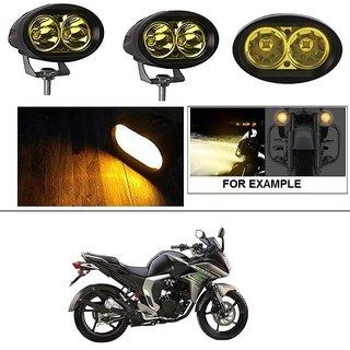 AutoStark 2 Pcs of YELLOW Oval Shape 20 Watt Cree car / Bike led fog light bar Waterproof for Yamaha Fazer