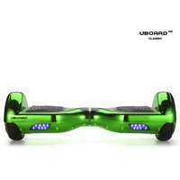 Uboard ECO Board 6.5 Smart Balance Wheel, High Quality Guarantee Electric Hoverboard(1 Year Warranty)-Chrome Green