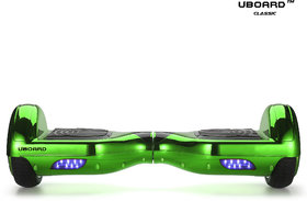 Uboard ECO Board 6.5 Smart Balance Wheel, High Quality Guarantee Electric Hoverboard(1 Year Warranty)-Chrome Green