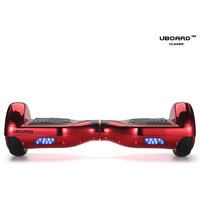 Uboard ECO Board 6.5 Smart Balance Wheel, High Quality Guarantee Electric Hoverboard (1 Year Warranty)- Chrome RED